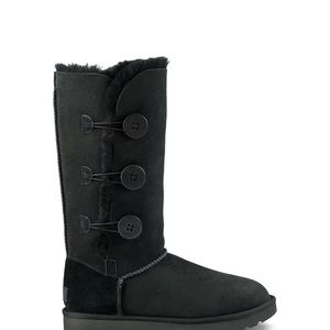 UGG Bailey Button Triplet Boots in Black